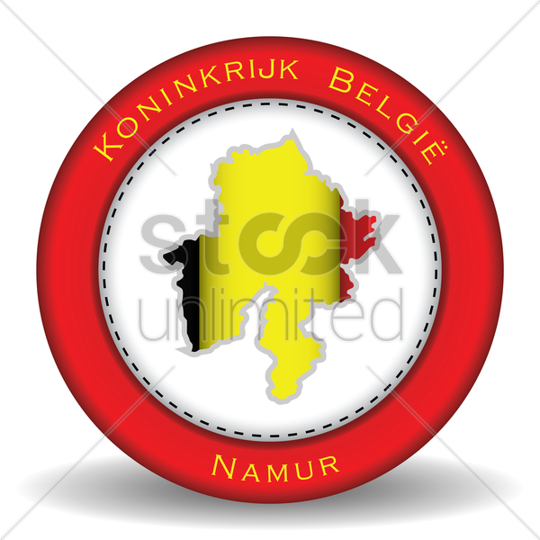 namur map sticker vector graphic