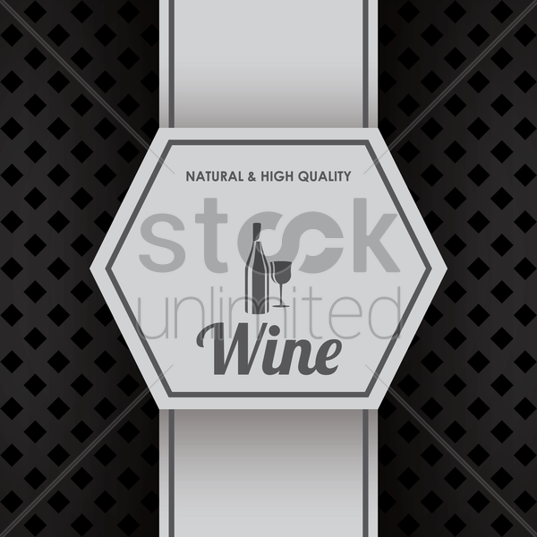 natural and high quality wine design vector graphic