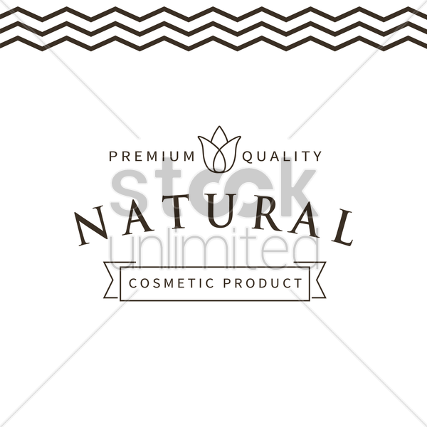 natural cosmetic label vector graphic