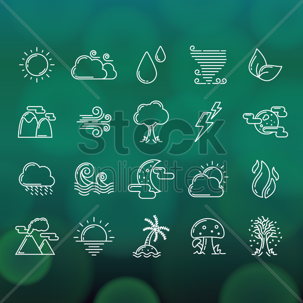 Free nature collection vector graphic