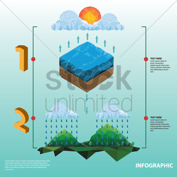 nature infographic vector graphic