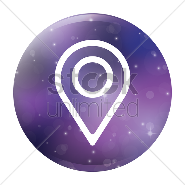 navigation pointer icon vector graphic