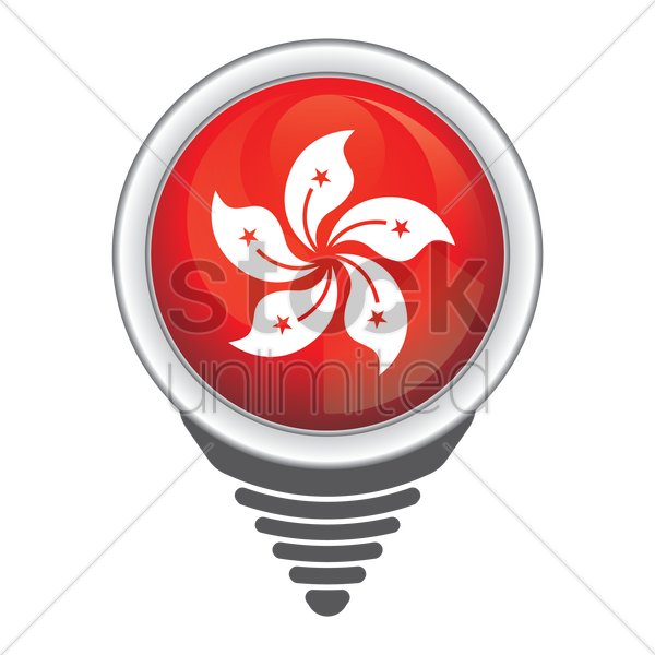 navigation pointer with hong kong button vector graphic