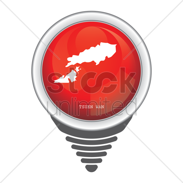 navigation pointer with tsuen wan map vector graphic