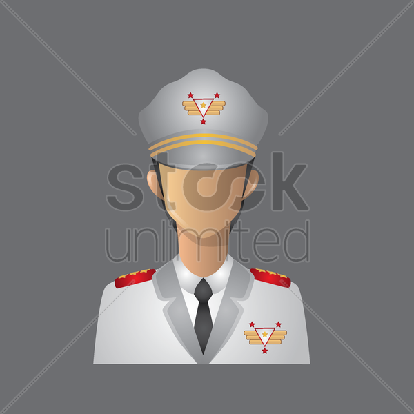 navy officer vector graphic
