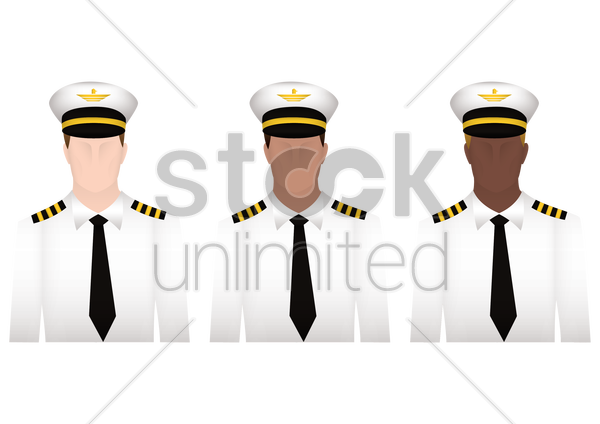 navy officers vector graphic
