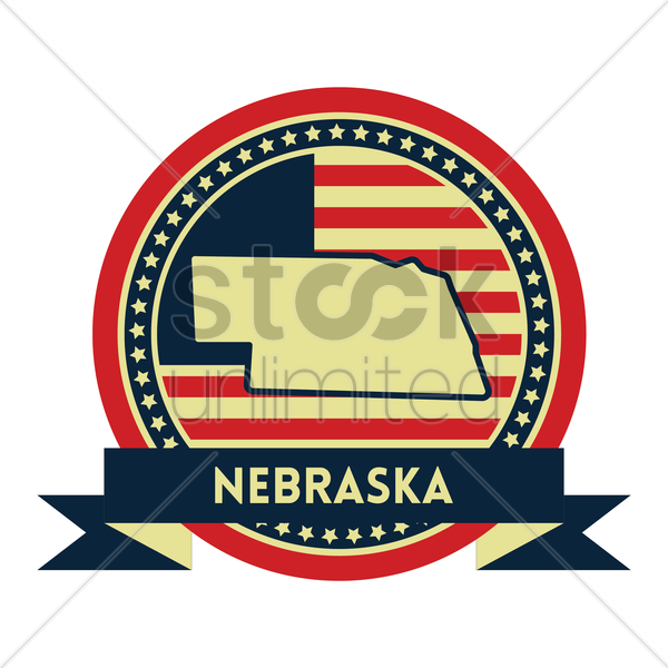 Free nebraska map label vector graphic