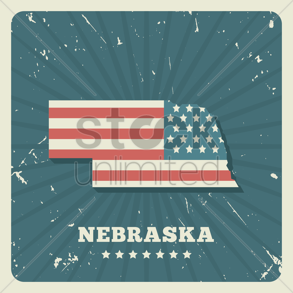 nebraska map vector graphic