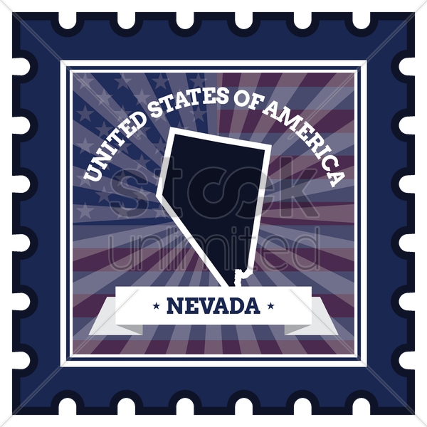 nevada postage stamp vector graphic