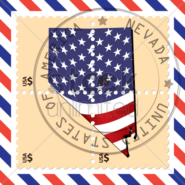 nevada stamp vector graphic