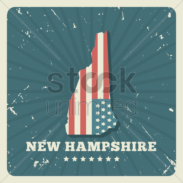 new hampshire map vector graphic