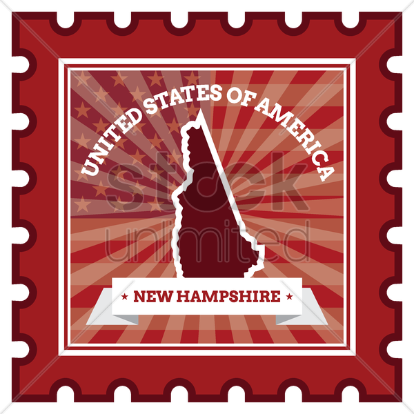 new hampshire postage stamp vector graphic