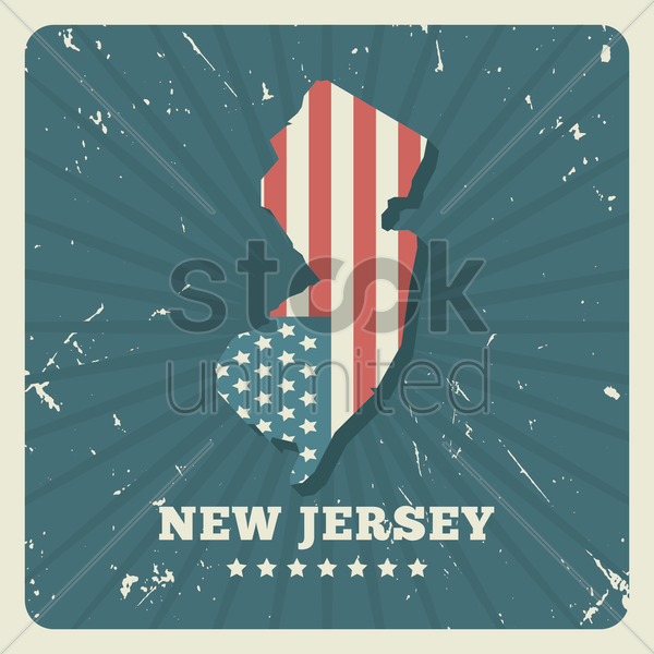 new jersey map vector graphic