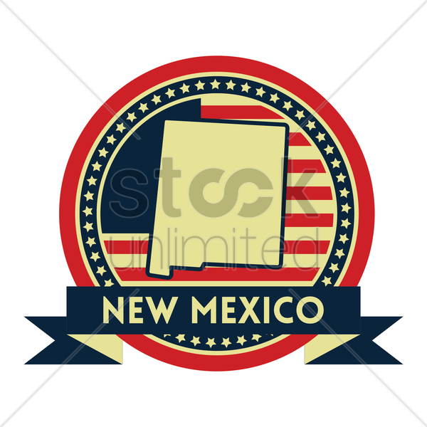 Free new mexico map label vector graphic