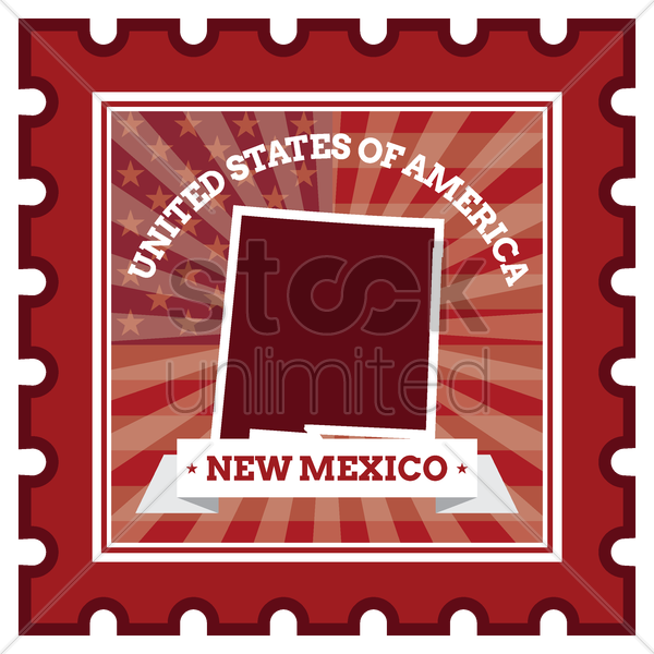 new mexico postage stamp vector graphic