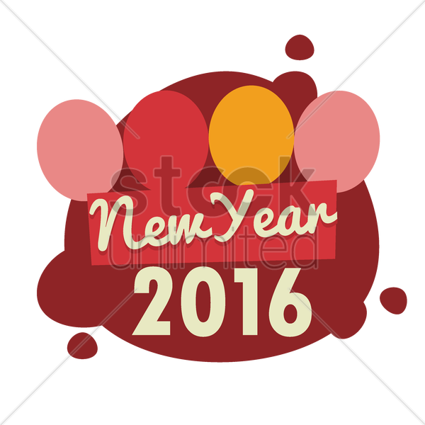new year 2016 vector graphic