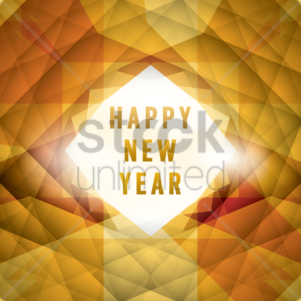 new year greeting vector graphic
