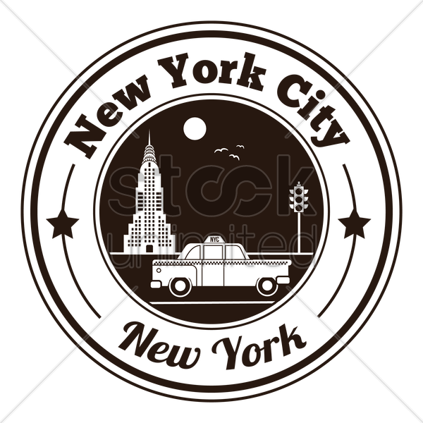 new york city label vector graphic