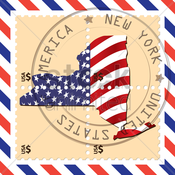new york stamp vector graphic
