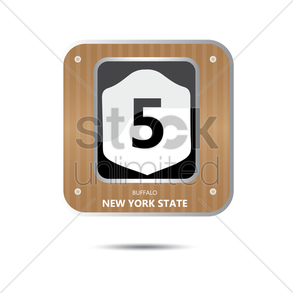 new york state route five road sign vector graphic