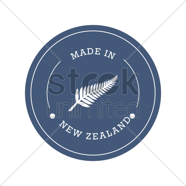 New zealand product label design Vector Image - 2017406 ...
