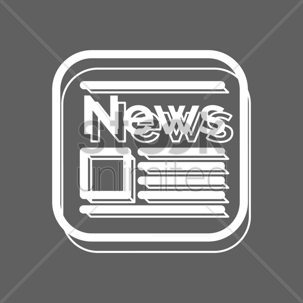 newspaper icon vector graphic