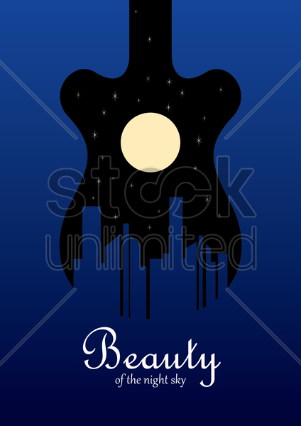night sky design vector graphic