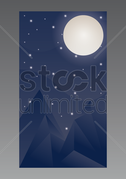 night sky wallpaper for mobile phone vector graphic