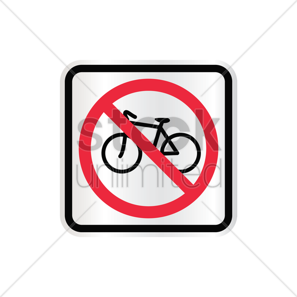 no bicycle sign vector graphic