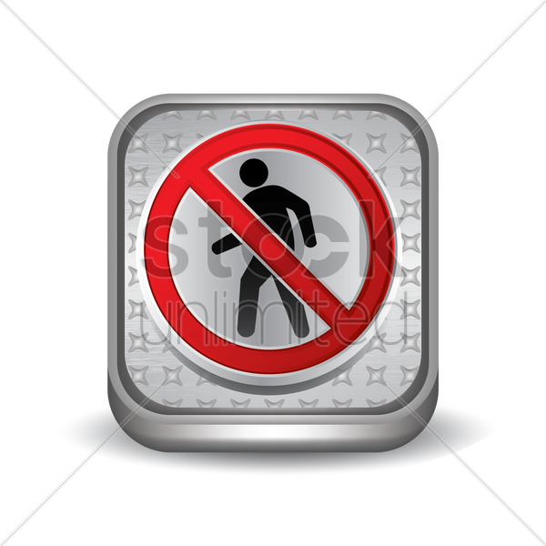 no pedestrian crossing sign vector graphic