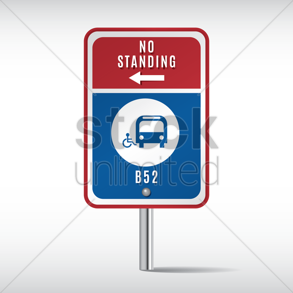 no standing sign vector graphic