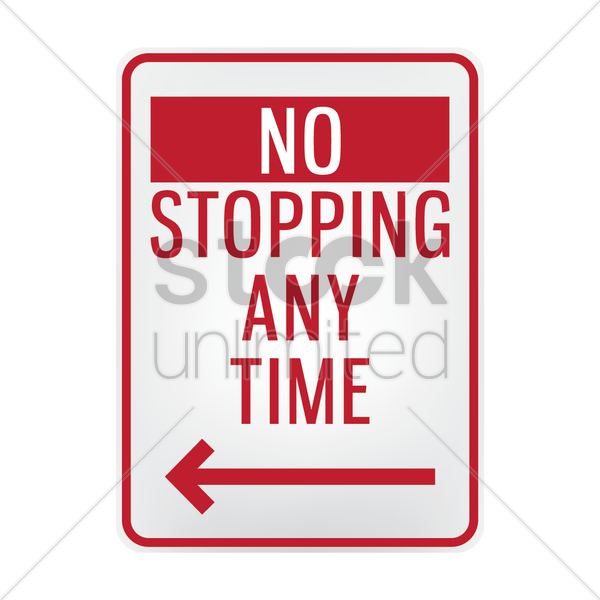 no stopping signboard vector graphic