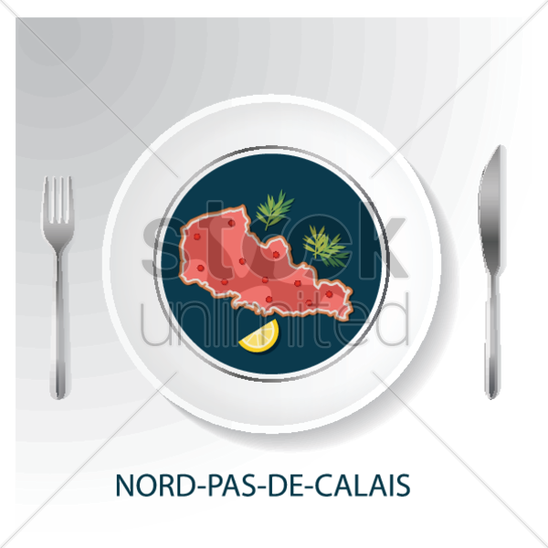 nord-pas-de-calais map vector graphic