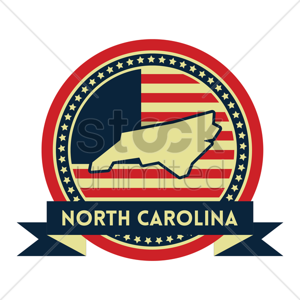 Free north carolina map label vector graphic