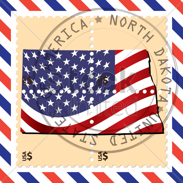 north dakota stamp vector graphic