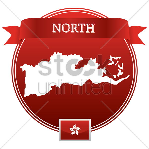 north map vector graphic