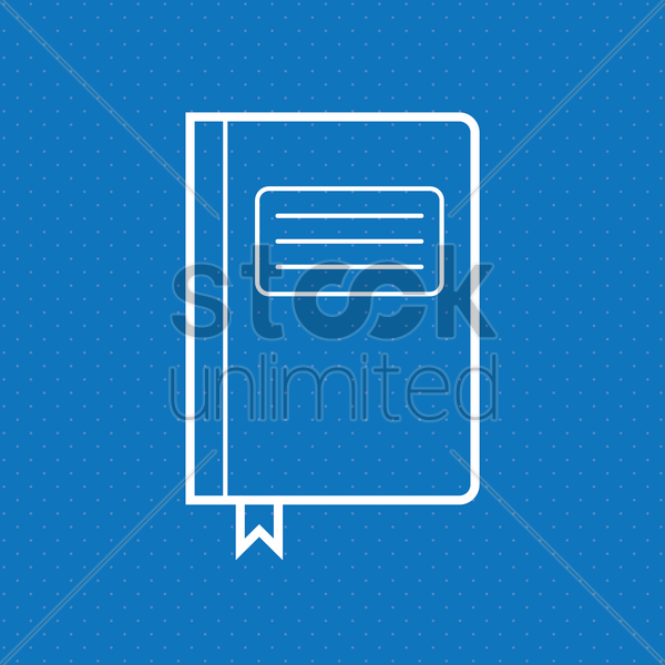 notebook vector graphic