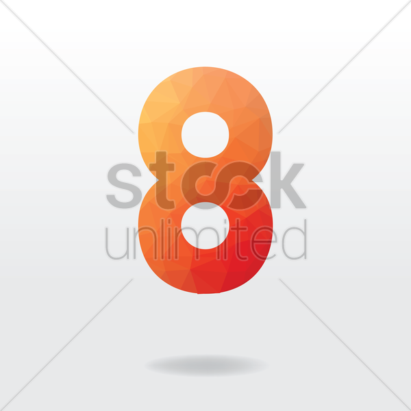 number eight vector graphic