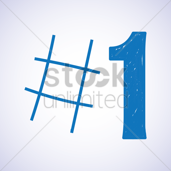 number one icon vector graphic