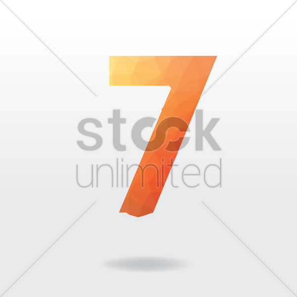 number seven vector graphic