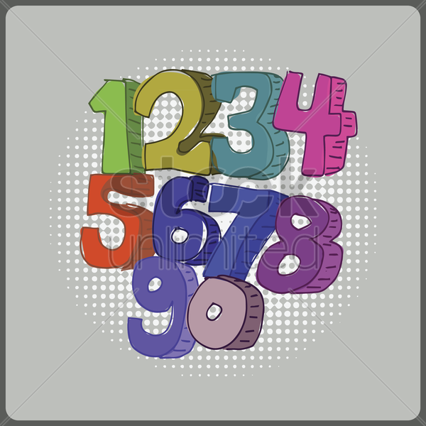 numbers vector graphic
