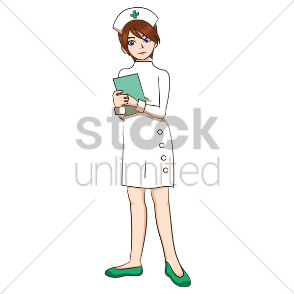 nurse holding book vector graphic