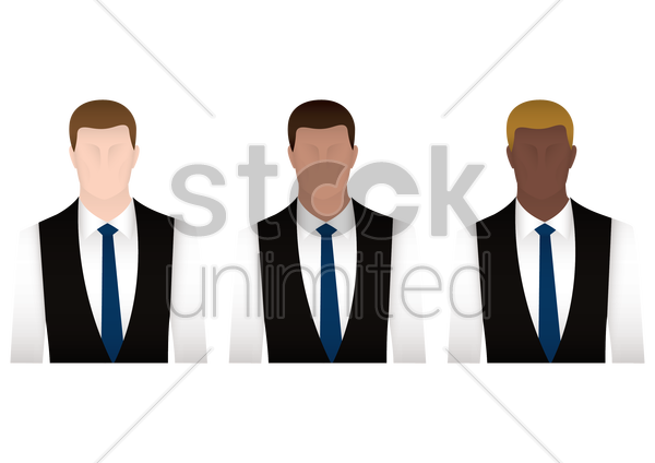 office employees vector graphic