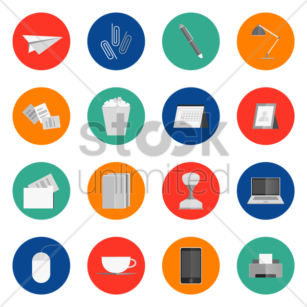 office icons vector graphic