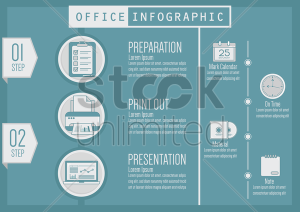 office infographic vector graphic