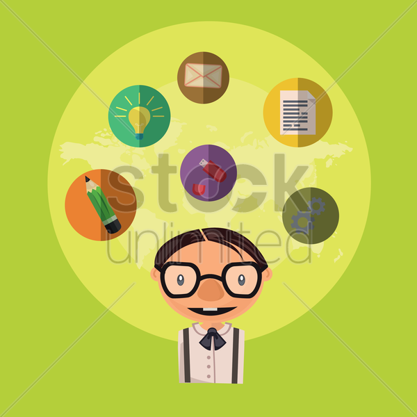 Free office infographic vector graphic
