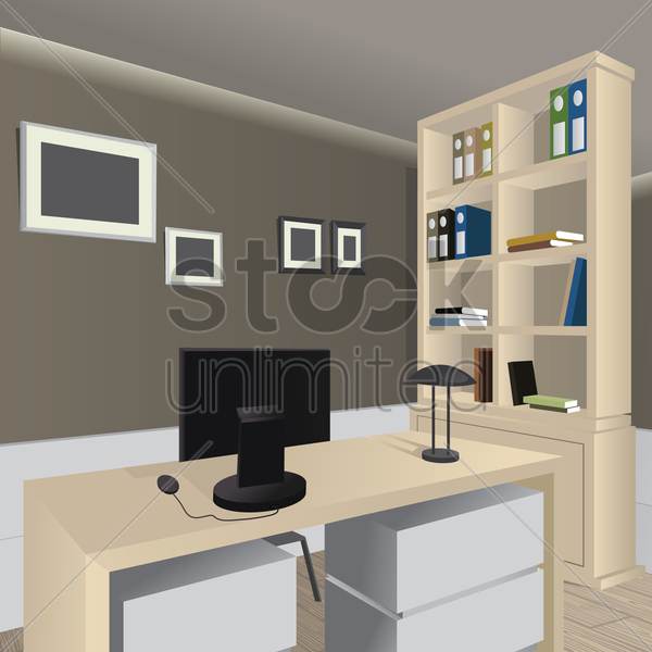 Office Room Vector Image 1515906 StockUnlimited