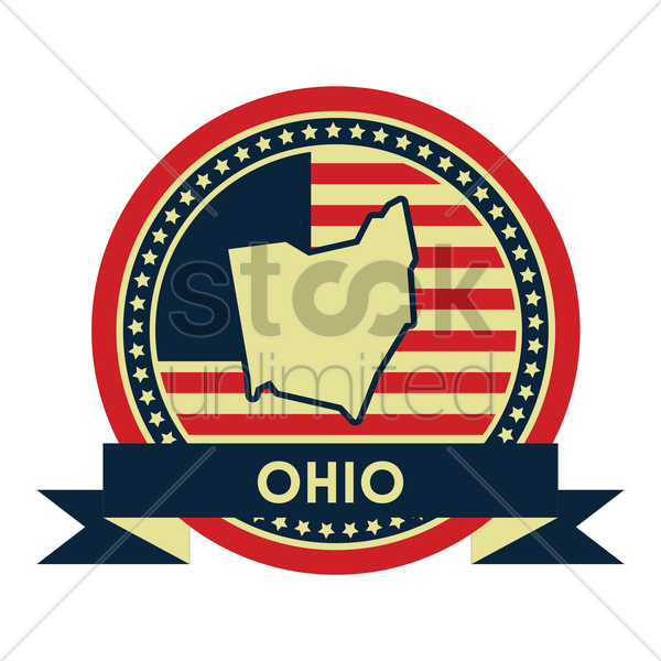 Free ohio map label vector graphic