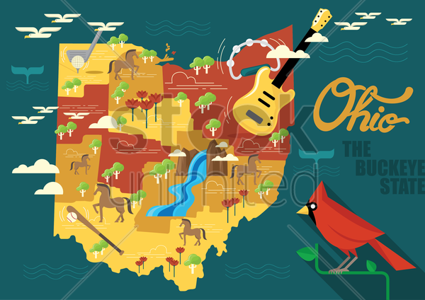 ohio vector graphic