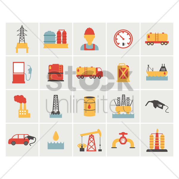 oil and gas equipment vector graphic